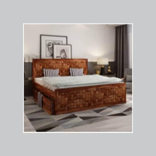 Teak wooden bed price