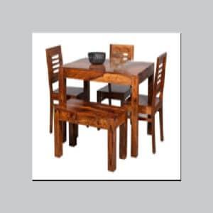 teak wooden dining table set