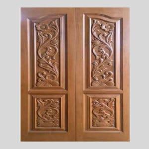 Constum India teak double door