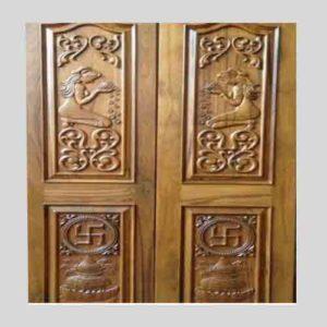 indian teak wood door
