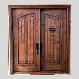 Teak wooden double door
