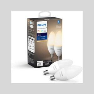 Philips Hue White 2-Pack LED Smart Candle Bulbs