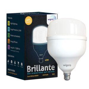 Wipro 40W B22 LED Cool Day Light Lamp